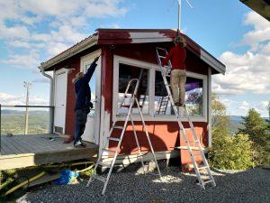 Målning i Järvsöbacken