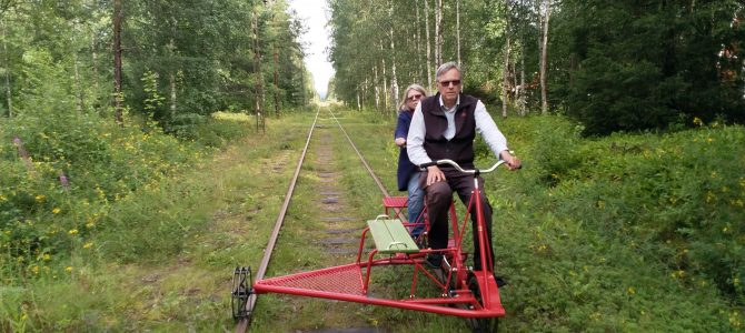 Vi cyklar dressin på Dellenbanan (igen)
