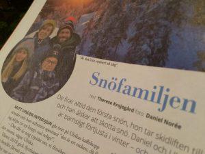 Snöfamiljen i Järvsö