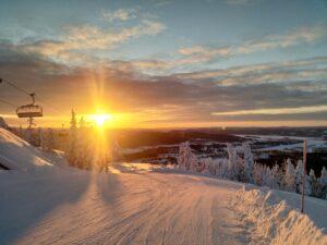 Soluppgång i Järvsöbacken